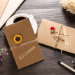 Handmade Creative Birthday Greeting Card Retro Kraft Greeting Business Card Thanksgiving Holiday Greeting Card