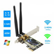 Dual Band 2.4G/5Ghz 433Mbps Wireless PCI-E Card PC Computer High Speed WiFi Adapter For Windows 7/8/8.1/10