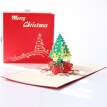 3D Popup Christmas Tree Greeting Card With Envelope Christmas Cards Unique Holiday Postcards Invitations for New Year Festival