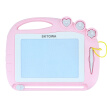 SKTOWA Magnetic Drawing Board Toy for Kids, Large Doodle Board Writing Painting Sketch Pad, Random Color Stamps, Pink