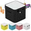 Mini Wireless MP3 Music Player Sound Speaker Subwoofer with Colorful Light Small Crack Support TF Card