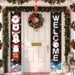 Christmas Porch Sign Merry Christmas Hanging Banners For Holiday Home Indoor Outdoor Porch Wall Christmas Decoration