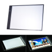 Portable A4 LED Light Box Drawing Tracing Tracer Copy Board Table Pad Panel Copyboard with 3-mode Brightness Black Edge Scale for