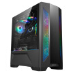 LIANLI Ghost Axe Black Gaming Computer Main Box Full Steel Panel / Double Open Tempered Glass Side Through / ARGB Divine Light Synchronization / Support E-ATX, Vertical Graphics Card / Hidden Line