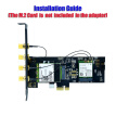 NGFF M.2 Key B And Key A To PCIe X1 Adpater For 3G/4G And WiFi Card