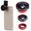 LIEQI LQ - 003 Mobile Phone 3 in 1 Fish Eye Macro 0.4X Super Wide Angle Clip-on Lens  Detachable lens   140 degree wide angle