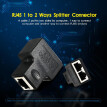 RJ45 Splitter Adapter Connector 1 to 2 Female Ports for CAT 5/CAT 6/CAT 7 LAN Ethernet Cables Socket Splitter Hub PC Laptop Router