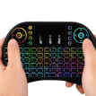 i8 Mini Backlight Wireless Keyboard Touchpad Mouse - BLACK Ultra-Sensitive Mouse Touch-pad With 360-Degree Flip Design