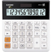 CASIO MH-12-WE Small 12-Bit Dual Power Supply Ultra-Wide Calculator White Professional Computing Series