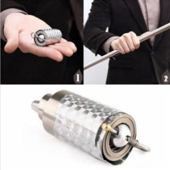 Silver Metal Appearing Cane Wand Stick Stage Magic Trick Gimmick Xmas toy Gift New