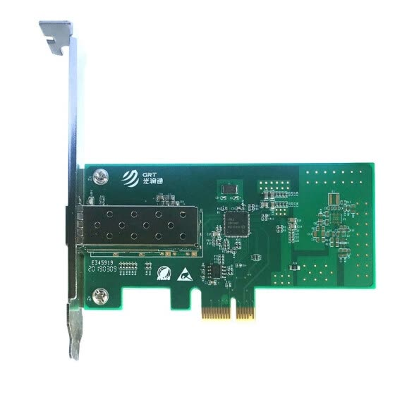 GRT F901E 1.25g single port fiber Ethernet server adapter NIC based on Intel I210 chip