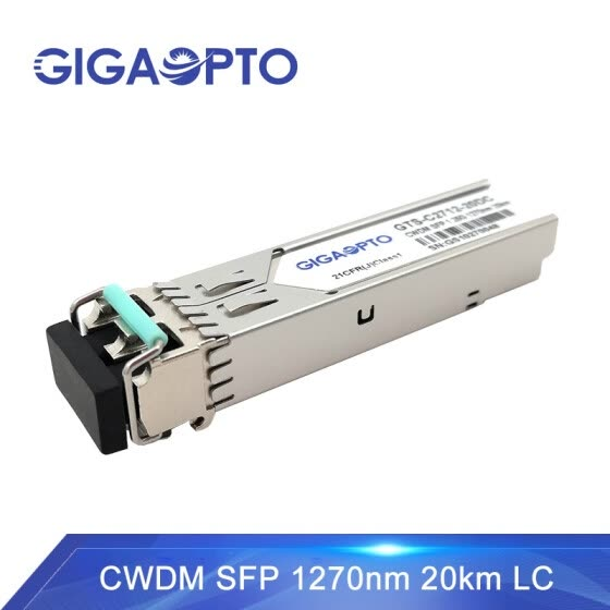Gigaopto CWDM 1.25G SFP Transceiver Compatible for Cisco HP HW H3C Brocade etc.  (SMF, 1270~1610nm, 20km, LC, DOM)