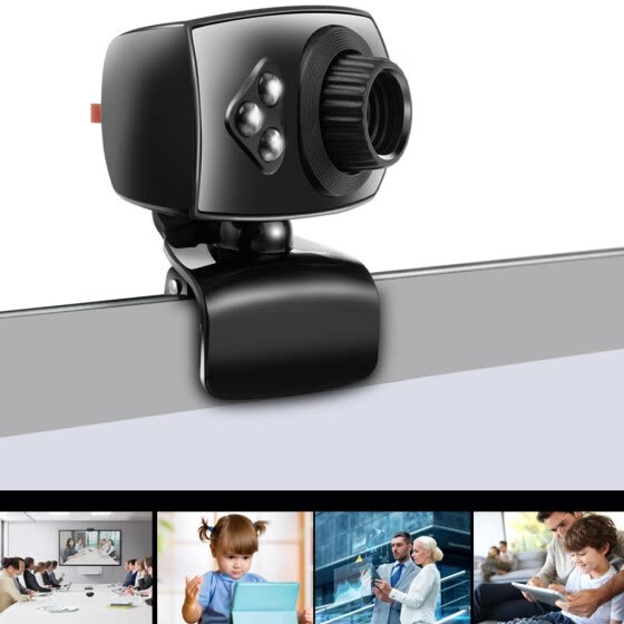 Full HD Webcam USB 3 LED Video Camera with Microphone for PC Laptop Clip-on