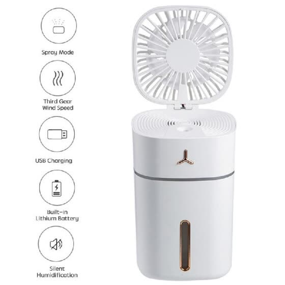 Portable Rechargeable Fan Air Cooler Mini Operated Hand Held  USB 18650 Battery