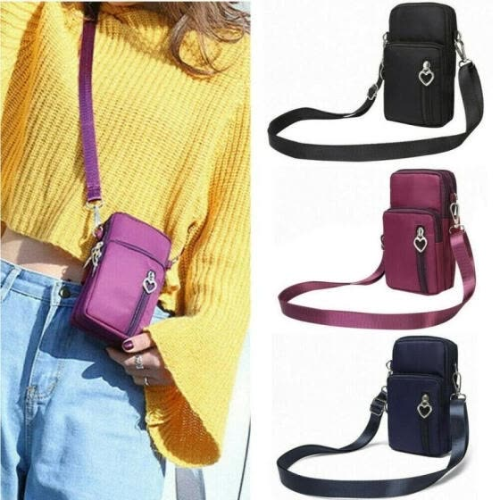 Women Cross-body Mobile Phone Shoulder Bag Pouch Case Belt Handbag Purse Wallet
