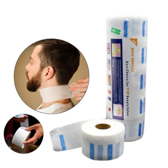 Neck Paper Disposable Neck Strip Protector for Barber Salon Hairdressing Hair Dying
