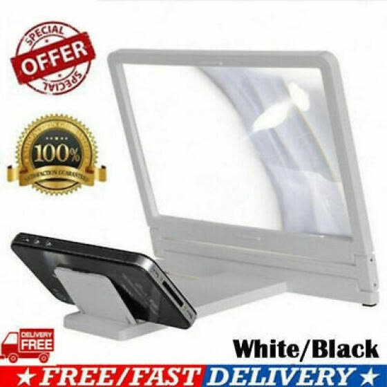 "12"" Mobile Phone Screen Magnifier 3D HD Video Amplifier Smartphone Stand Bracket"
