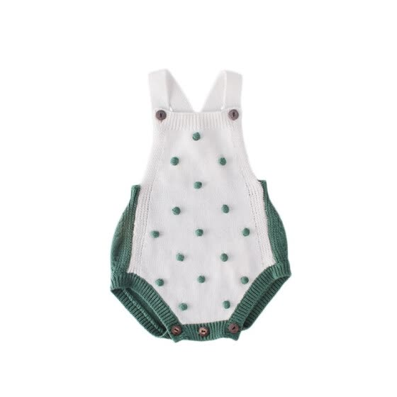 Baby Boy Girl Knitting Rompers Newborn Clothes Sleeveless Romper Jumpsuit