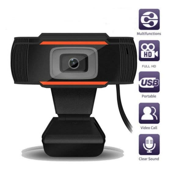 30 Degrees Rotatable 2.0 HD Webcam 1080p USB Camera Rotatable Video Recording Web Camera With Microphone For PC Laptop Desktop