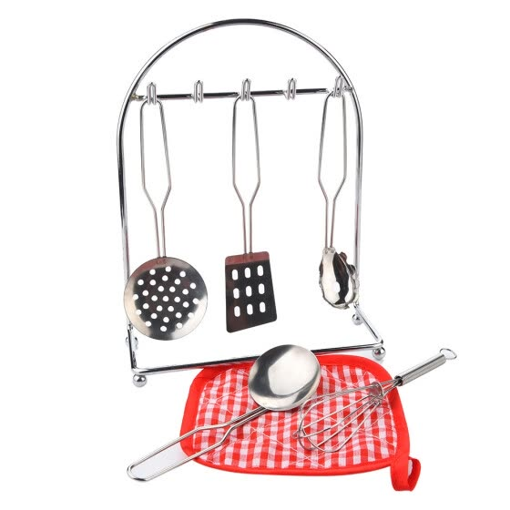 Shop 7 Pcs Set Stainless Steel Kitchen Cooking Utensils Kids Pretend Play Set Online From Best Other Toys On Jd Com Global Site Joybuy Com