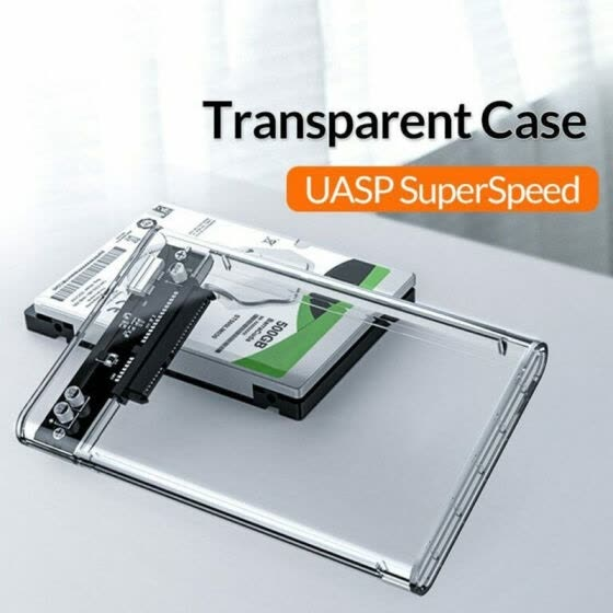 New USB3.0 Transparent High-speed Mobile Hard Disk Box 2.5-inch Serial SATA Hard Disk Box