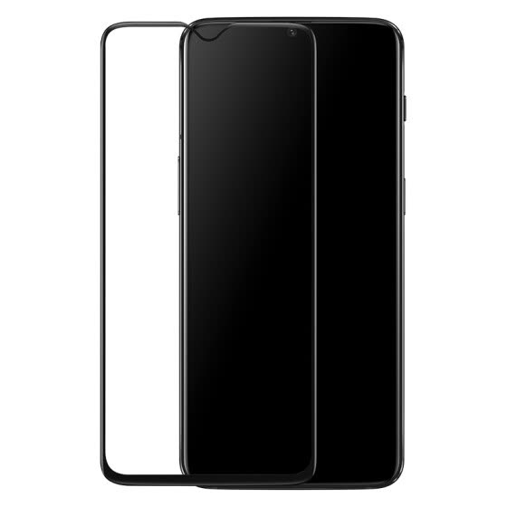 Original OnePlus 6T 3D tempered glass phone protective film (black)