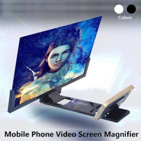 "14"" Mobile Phone Screen Magnifier 3D Video Amplifier Smartphone Stand Bracket US"