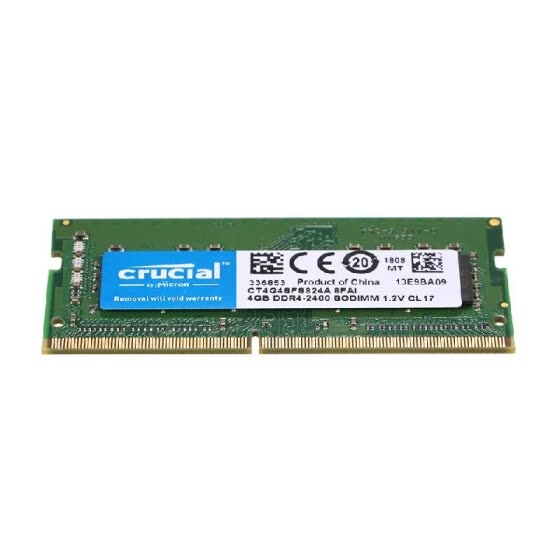 Crucial 4GB Single DDR4 2400MT/s PC4-19200 CL17 1.2V SODIMM 260-Pin Memory for Laptop Notebook CT4G4SFS824A