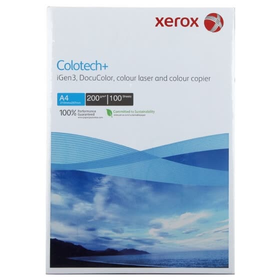 Xerox Colotech + Colorful Paper 200g A4 100 sheets / bag
