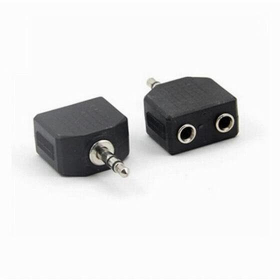 Huayuan 1 Piece New 3.5MM Mini 1 to 2 Audio Adapter Splitter For Earphone Headset Converting Connector