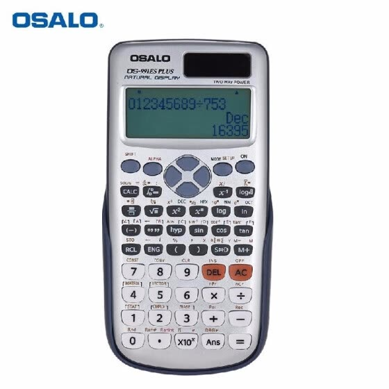 OSALO OS-991ES PLUS Engineering Scientific Calculator Dual Power Supply Calculadora with Button Battery 417 Functions for Scientif