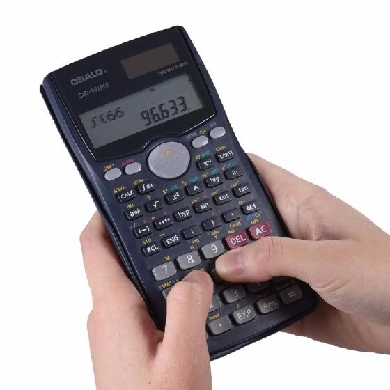 Scientific Calculator Counter 401 Functions Matrix Dot Vector Equation Calculate Solar and Battery Dual Powered 2 Line Display Bus