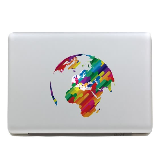 GEEKID@Macbook decal sticker Partial decal macbook pro decal macbook air decal Earth apple sticker mac retina decals stickers