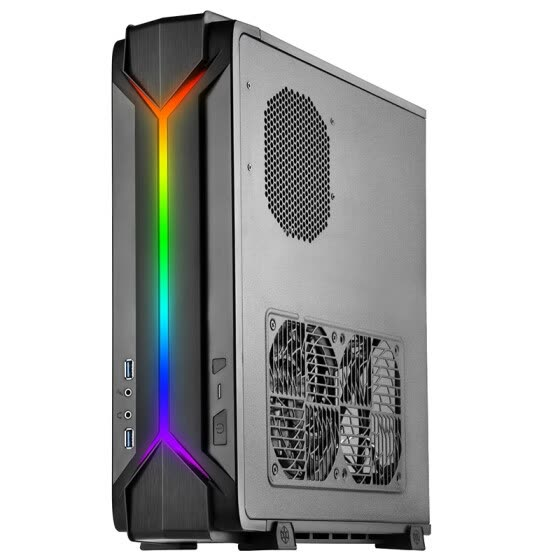 SilverStone RVZ03 Raven 3 ARGB version of ITX chassis (supports long graphics card / ATX power / programmable RGB light effect)