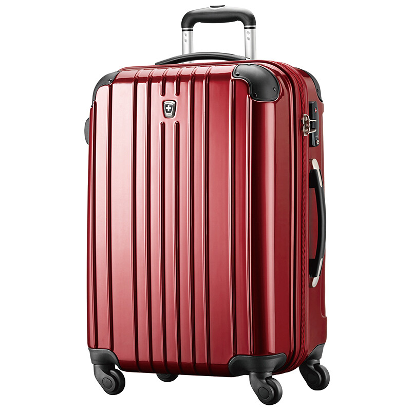 631728c25191 Shop SWISSMOBILITY Trolley Case PC+ABS Lightweight Large Capacity Travel  Suitcase 24 Inch Universal Wheel MT-5555-01T00 Dark Red Online from Best  Luggage ...