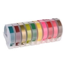 3D Plastic Embossing Label Tape 9mm 3m Replace DYMO 1610 12965 Label Maker Tape