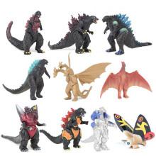 10Pcs/ Set Mechagodzilla Gigan Anguirus Action Figure PVC Gift Toys