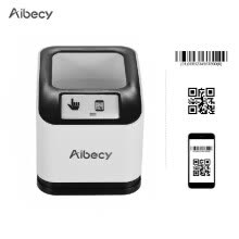 accounting-supplies-Aibecy 2200 1D/2D/QR Bar Code Scanner CMOS Image Desktop Barcode Reader USB Omnidirectional Screen Barcode Scanner on JD
