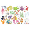 Fashion Underwater Sea Mermaid Bedroom Living Room Children Room Wall Stickers Decoration Decals Pvc Bathroom Waterproof Stickers