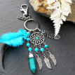 Mini Car Dream Catcher Beaded Natural Feathers Handcraft Chic Hanging Ornaments Mirror Bedroom Wall Decor Native Ring