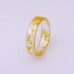Bluelans Women Handmade Transparent Resin Dried Flower Finger Band Ring Jewelry Gift