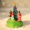 wood Music Box Christmas Decoration Xmas Kids Toy Children Gift