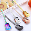 1Pc Stainless Steel Multicolor Guitar Shape Coffee Mixing Spoon Bartea Cold Drink Spoon