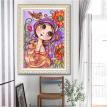 Creative Interesting5D Cartoon Girl And Tiger DIY Diamond Painting Embroidery Cross Craft Stitch Animal Decor Art Wall Sticker