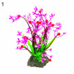 Aquarium Fish Tank Artificial Flower Grass Aquatic Plant Leaf Ornament Decor