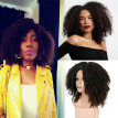 Brown Synthetic Curly Wigs for Women Short Afro Wig African American Natural