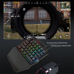 K99 ErgonomicMulticolor Backlight One-Handed Game Blueteoth Keyboard+Wired Mouse
