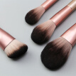 MAANGE 12PCS Make Up Brush Nylon Foundation Eye Shadow Concealer Makeup Brushes Tools With Pink Cosmetic Bag