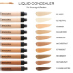 10 Colors Full Cover Pro Makeup Concealer Cream Face Corrector Liquid Make Up Base For Eye Dark Circles Facial Natural Cosmetic