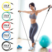 10pcs Indoor Fitness Elastic Rope Resistance Bands Yoga Exercise Fitness Band Rubber Loop Tube Bands